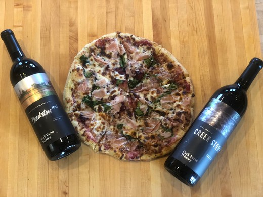 Smoked Turkey Breast & Cranberry Sauce Pizza