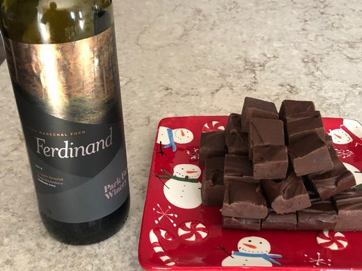 Dark Chocolate Red Wine Fudge